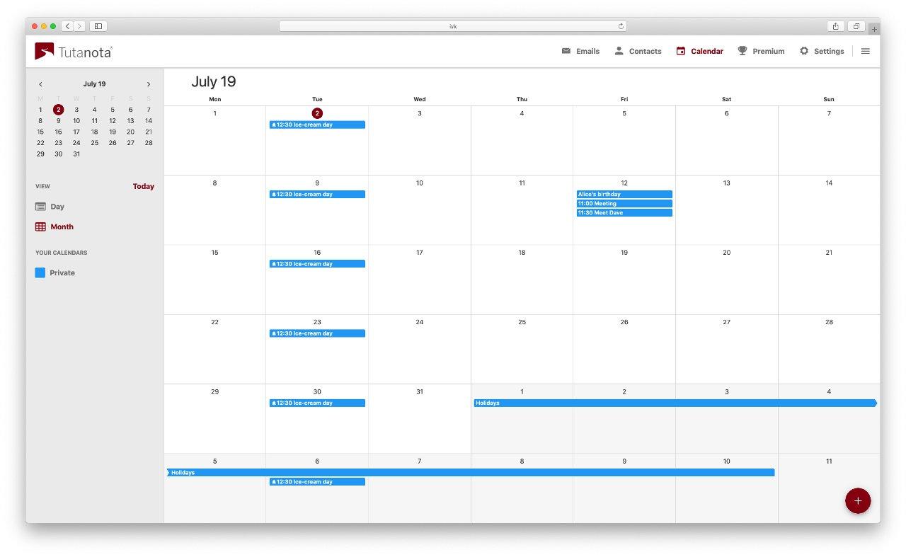 Calendario Solo Numeri.Il Provider Di Posta Elettronica Sicura Tutanota Lancia