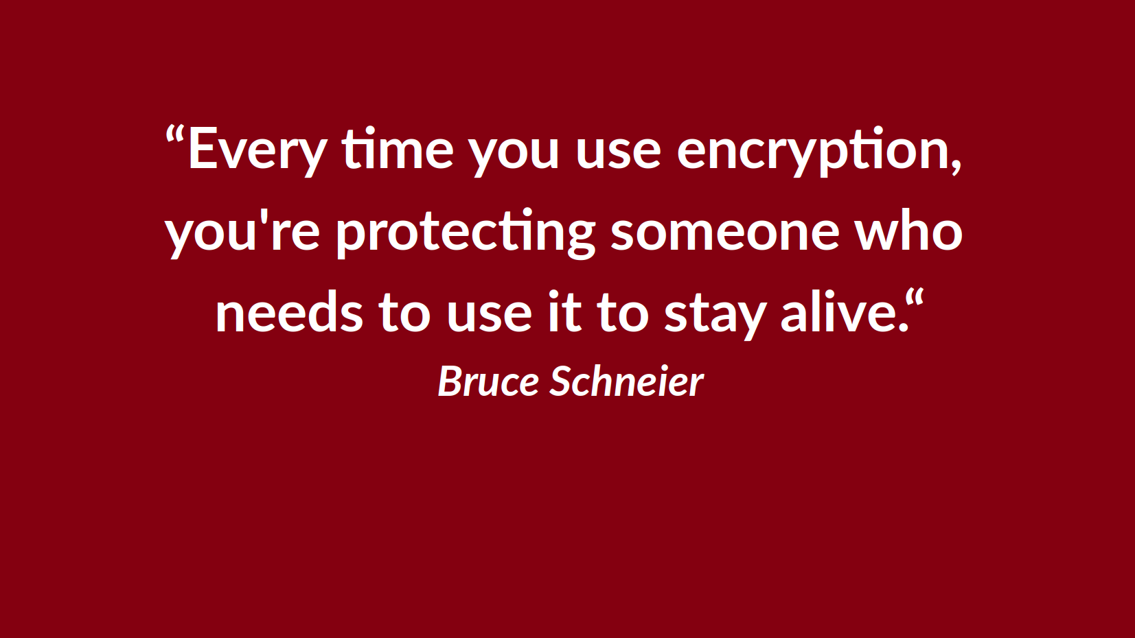 Data privacy day: Encryption protects everyone's privacy