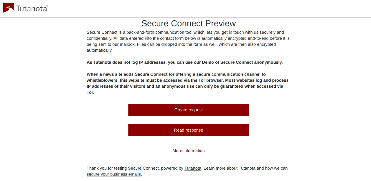 Tutanota launches Secure Connect, an encrypted contact form, to support Press Freedom