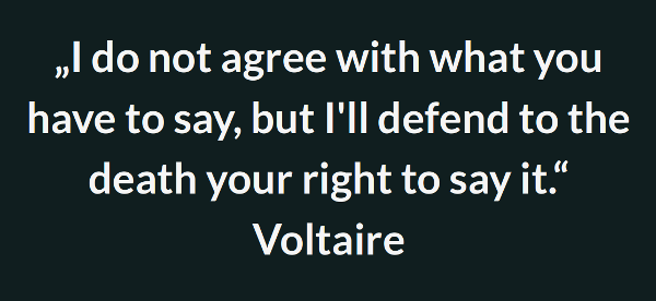 Quote on Freedom of Speech